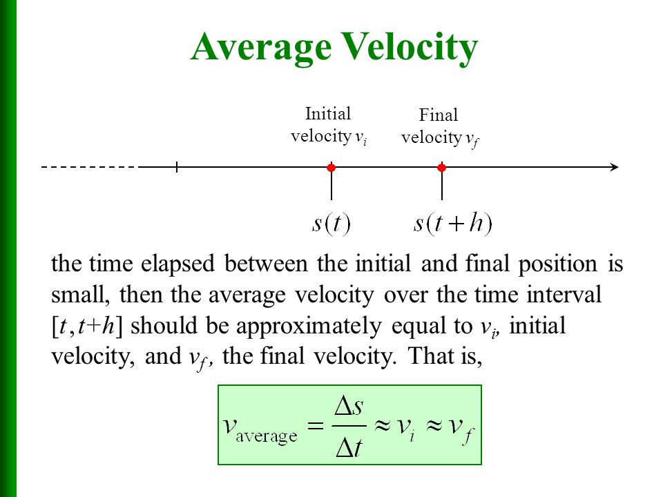 how to find final velocity with average velocity
