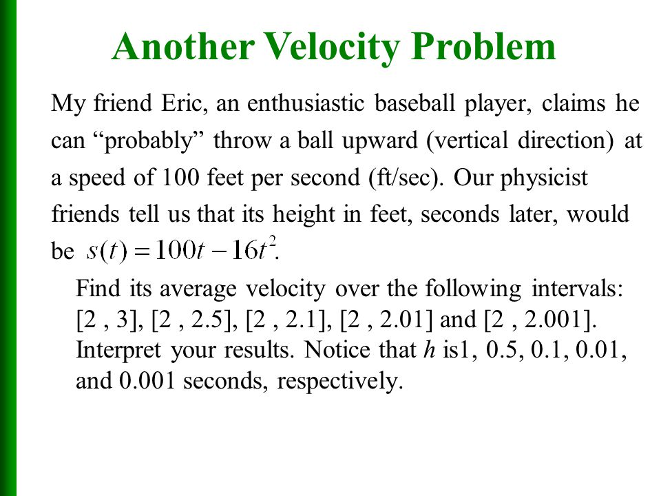 Another Velocity Problem