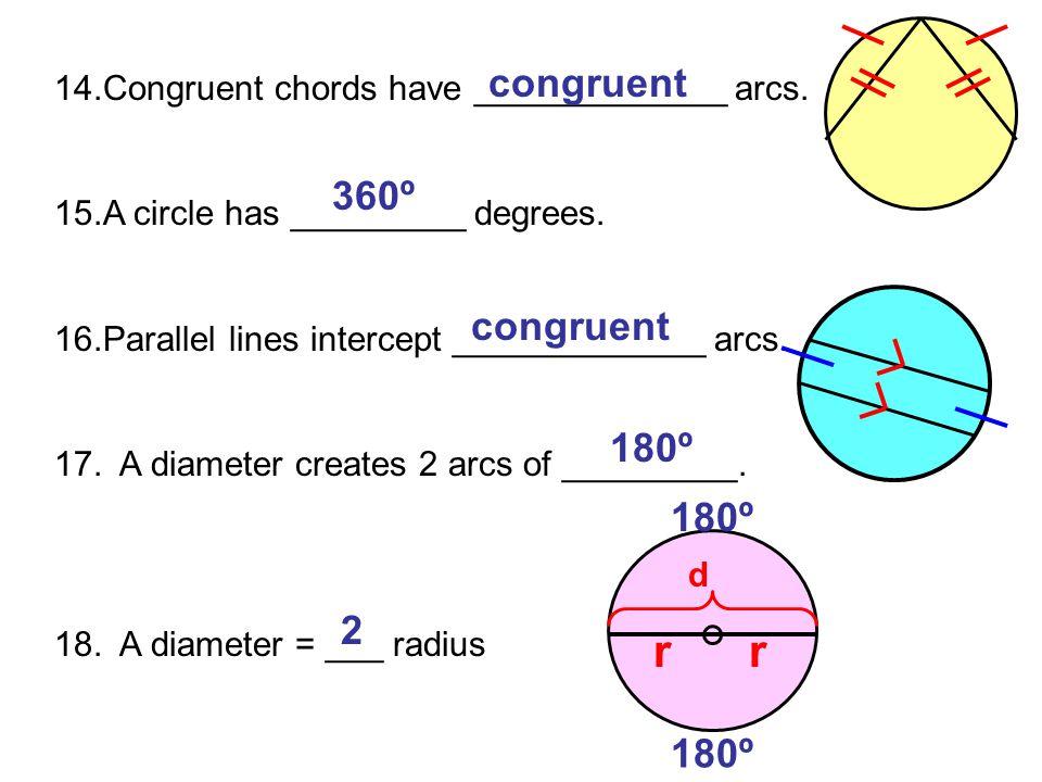 r congruent 360º congruent 180º 180º 2 180º