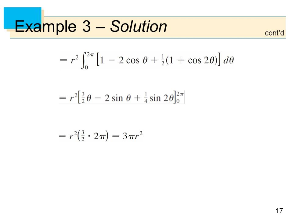 Example 3 – Solution cont'd