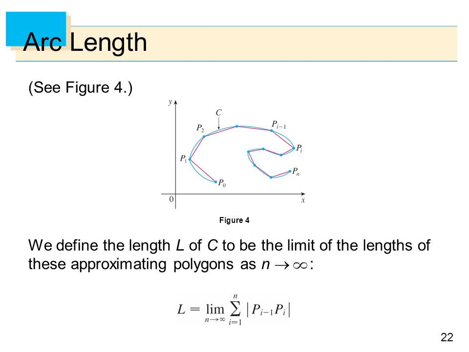 Arc Length (See Figure 4.)