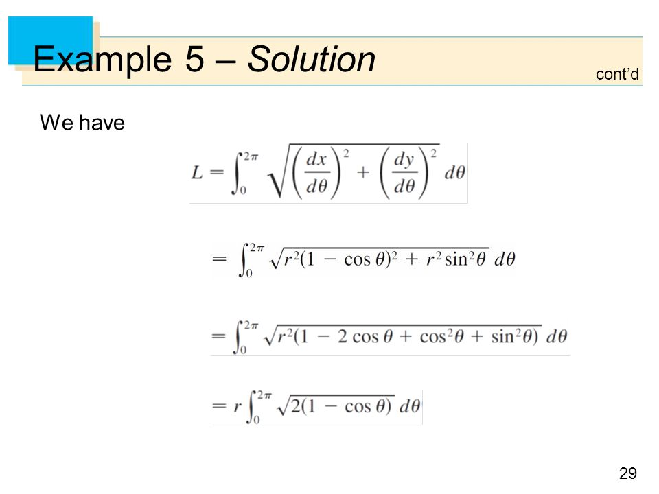 Example 5 – Solution cont'd We have