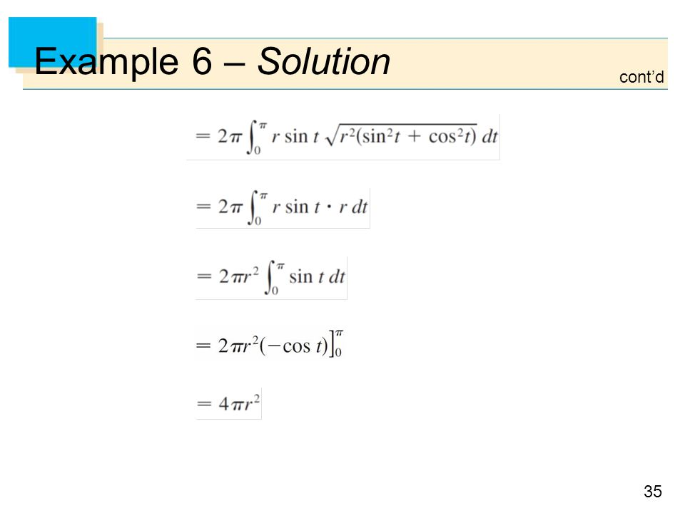 Example 6 – Solution cont'd
