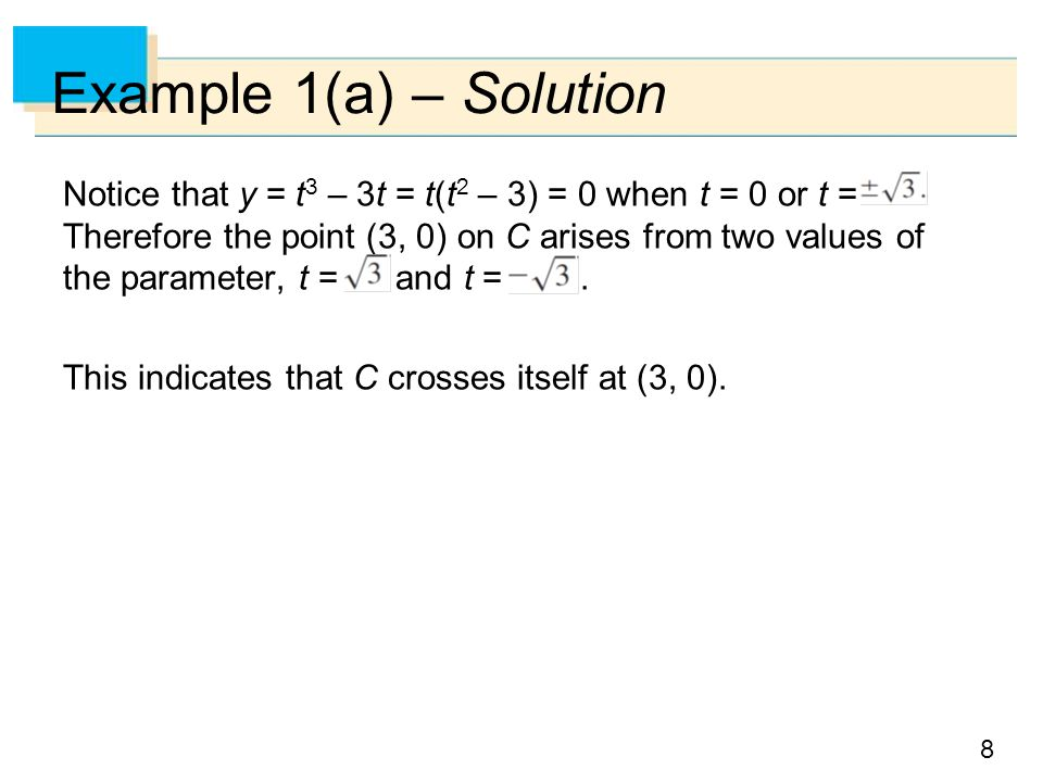 Example 1(a) – Solution