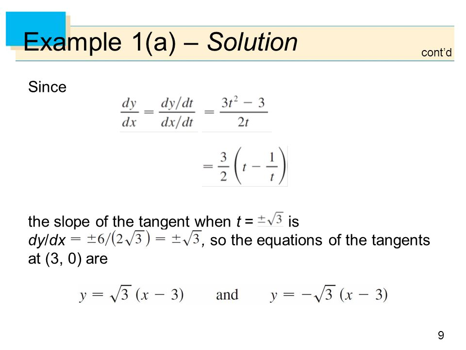 Example 1(a) – Solution Since
