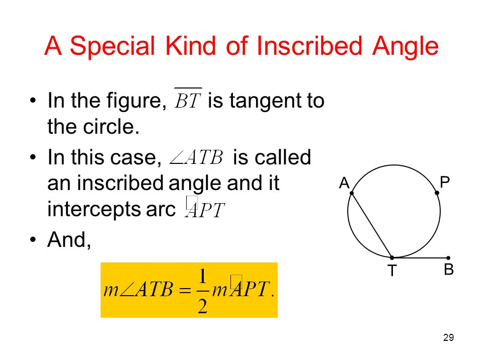 A Special Kind of Inscribed Angle