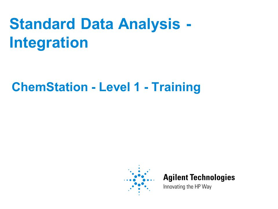 Standard Data Analysis - Integration