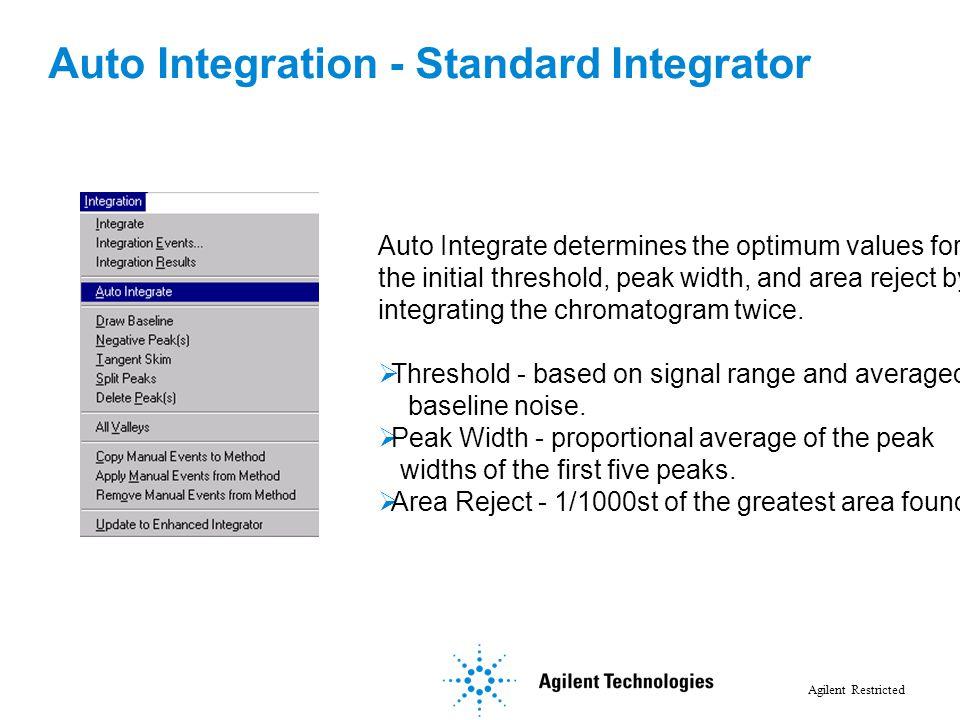 Auto Integration - Standard Integrator