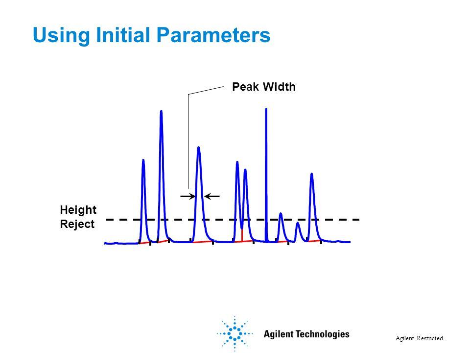 Using Initial Parameters