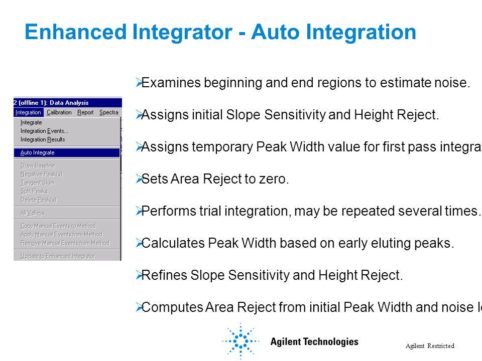 Enhanced Integrator - Auto Integration