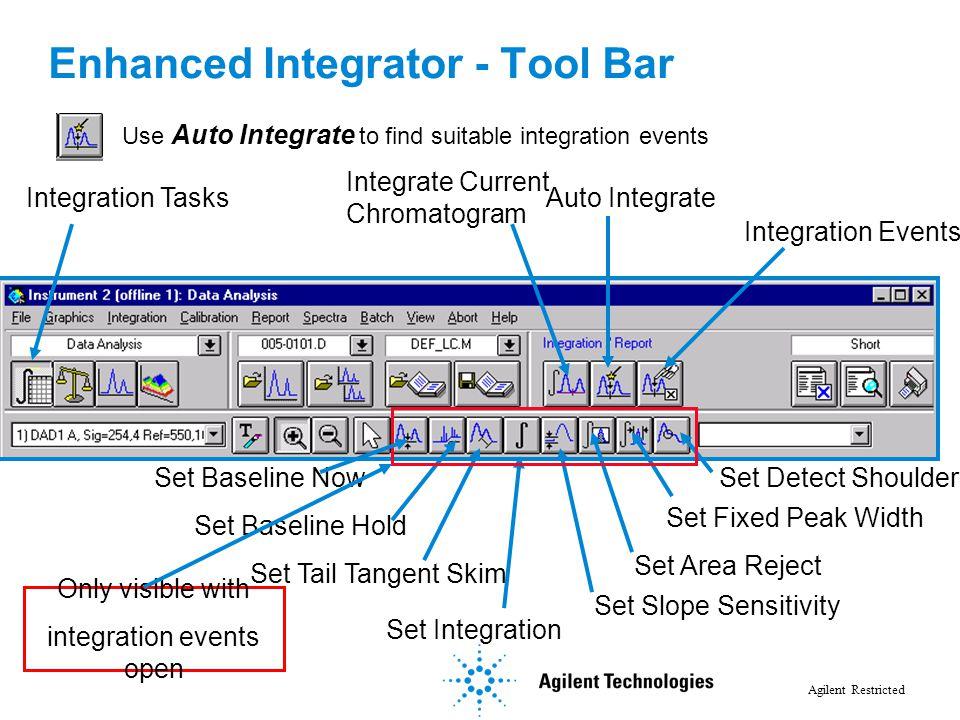 Enhanced Integrator - Tool Bar