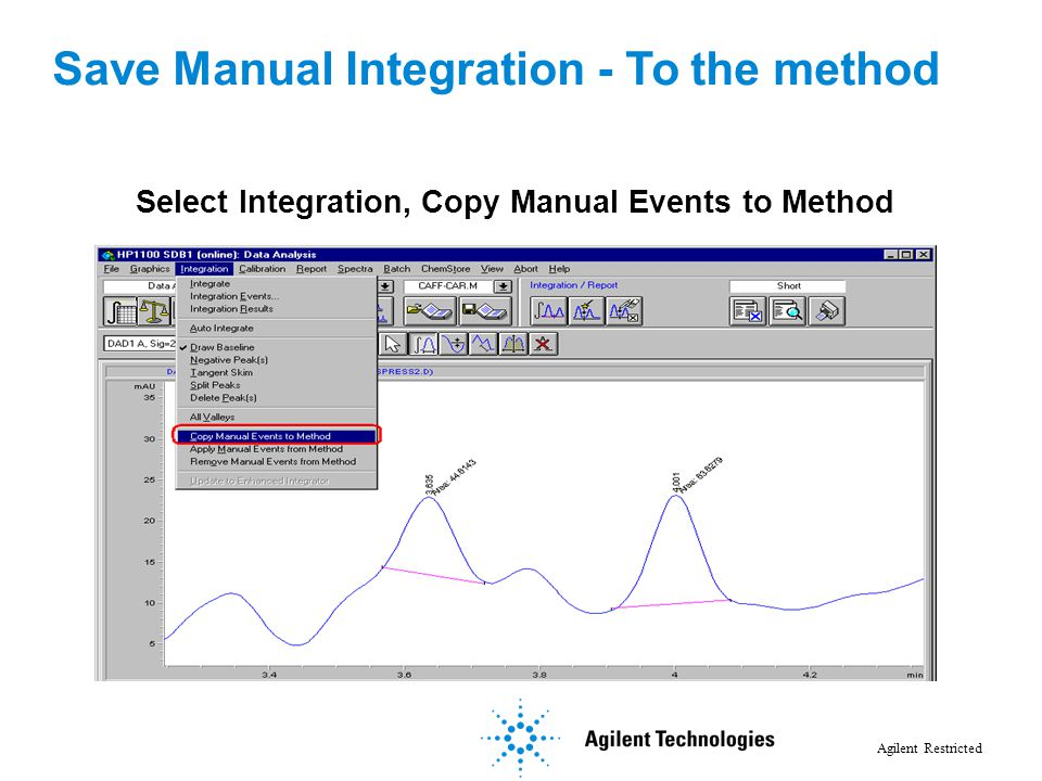 Option 1: Save Manual Integration to Method