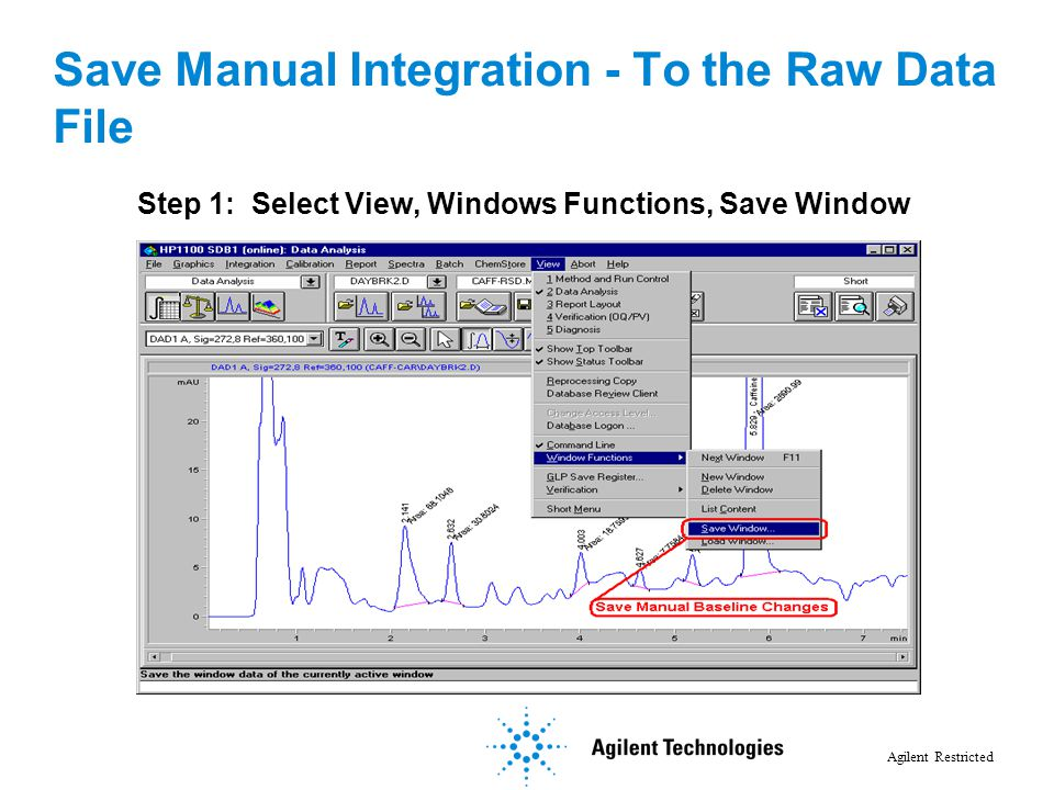 Save Manual Integration - To the Raw Data File