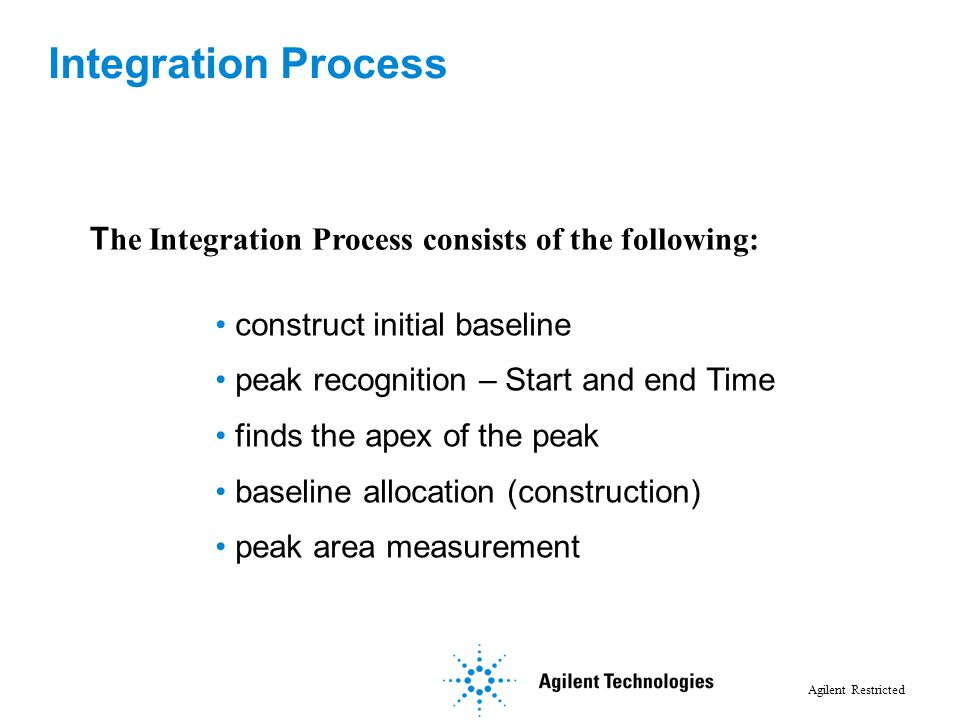 Integration Process The Integration Process consists of the following: