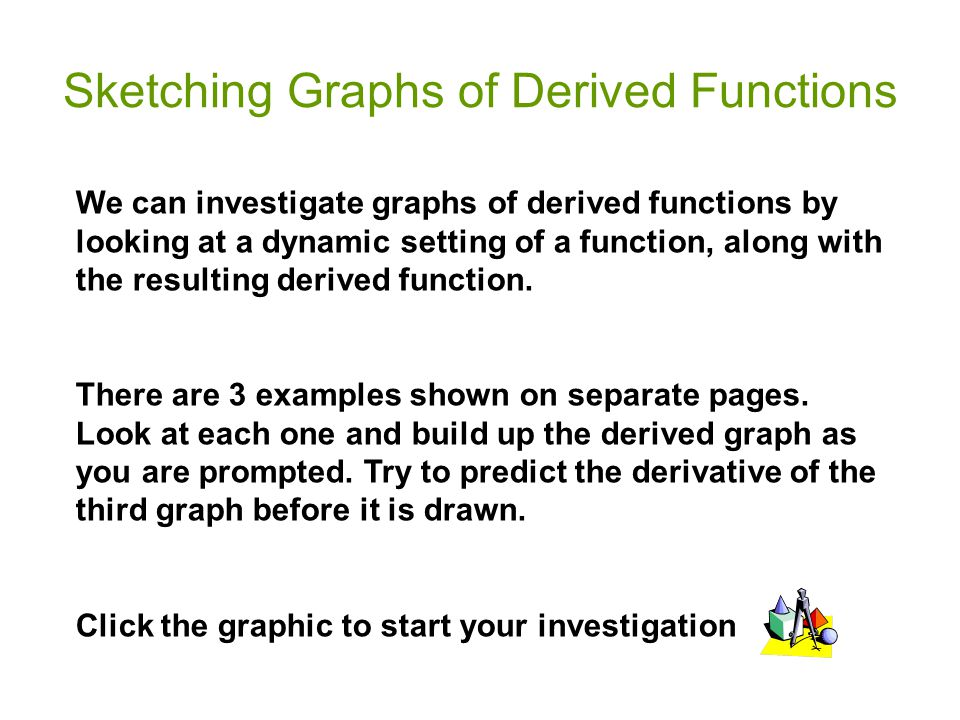 Sketching Graphs of Derived Functions