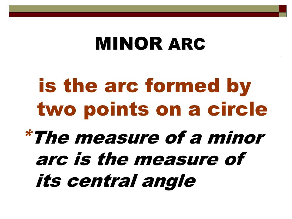 is the arc formed by two points on a circle