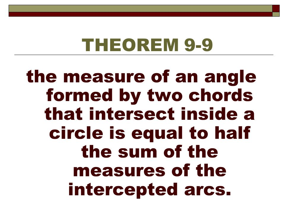 THEOREM 9-9