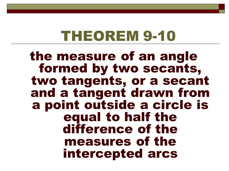 THEOREM 9-10