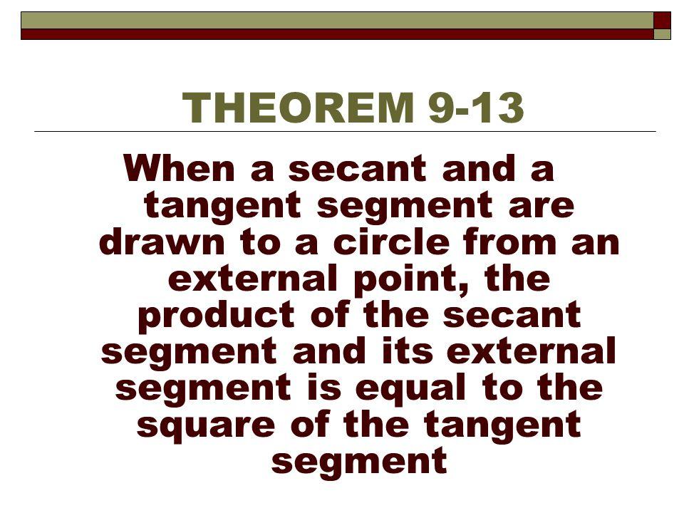 THEOREM 9-13