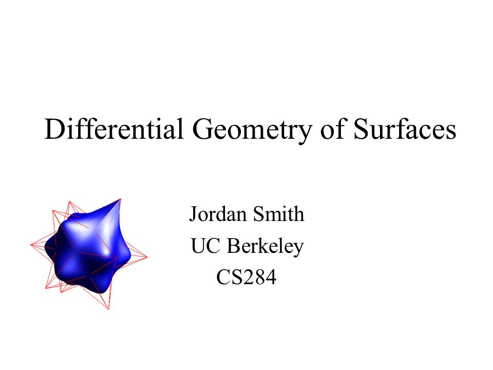 Differential Geometry of Surfaces