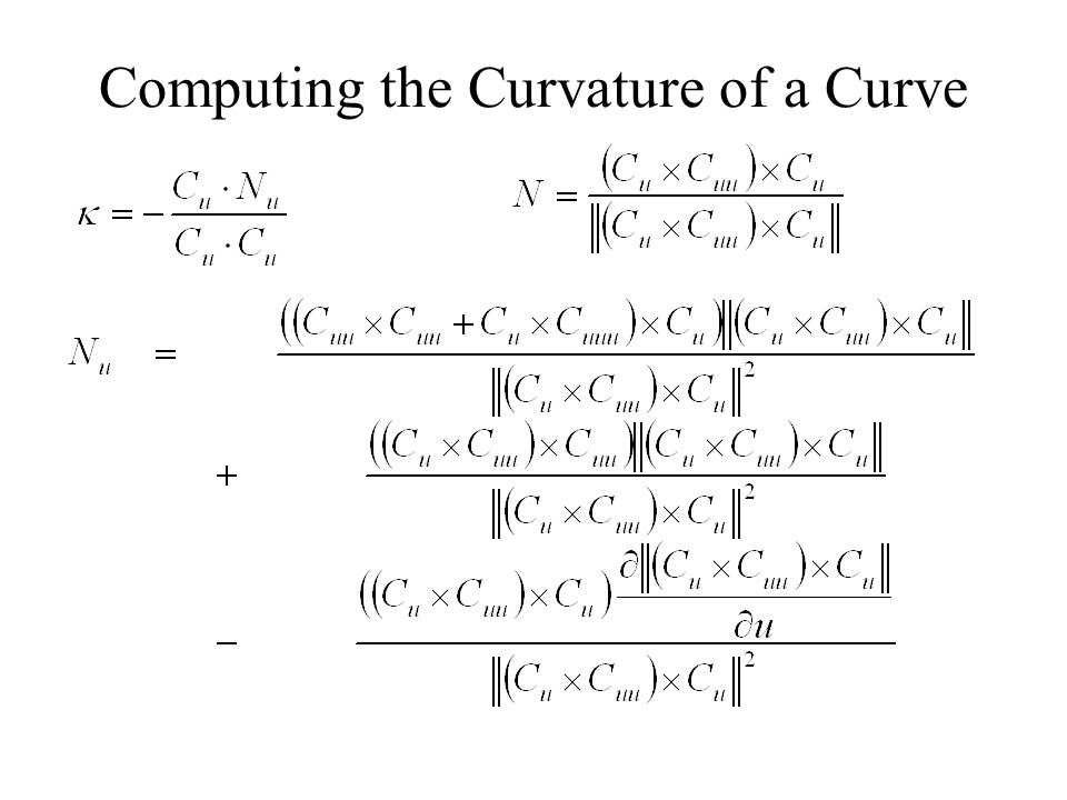 Computing the Curvature of a Curve