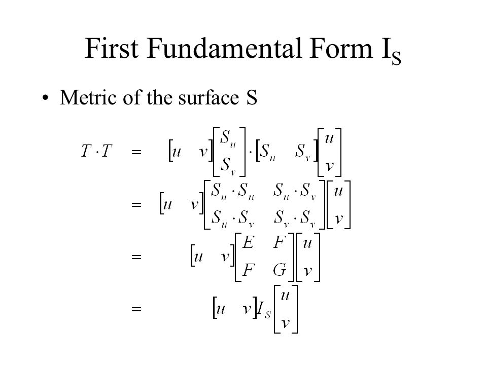 First Fundamental Form IS