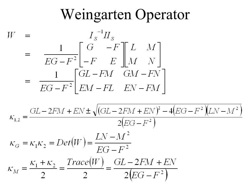 Weingarten Operator