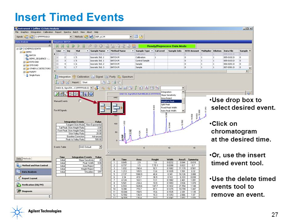 Insert Timed Events Use drop box to select desired event.