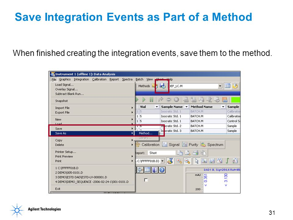 Save Integration Events as Part of a Method