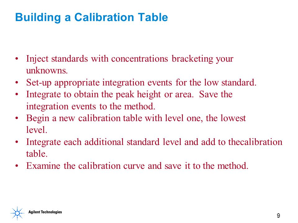 Building a Calibration Table