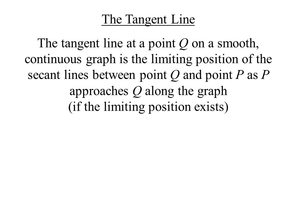 The Tangent Line