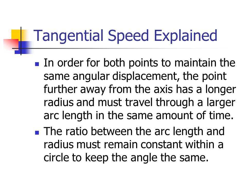 Tangential Speed Explained
