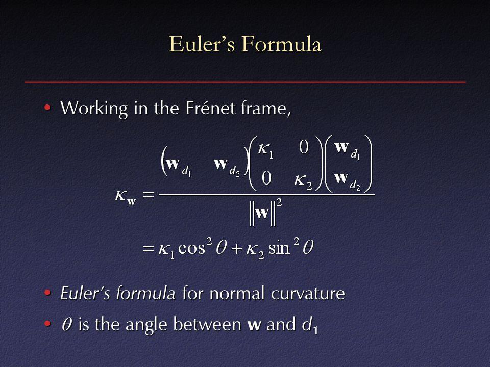 Euler's Formula Working in the Frénet frame,