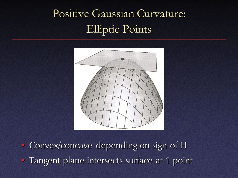 Positive Gaussian Curvature: Elliptic Points
