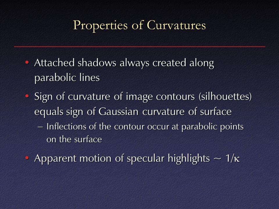 Properties of Curvatures