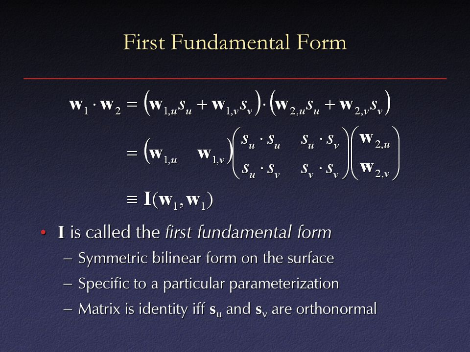 First Fundamental Form