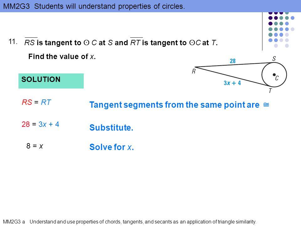 Tangent segments from the same point are