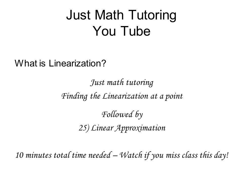 Just Math Tutoring You Tube