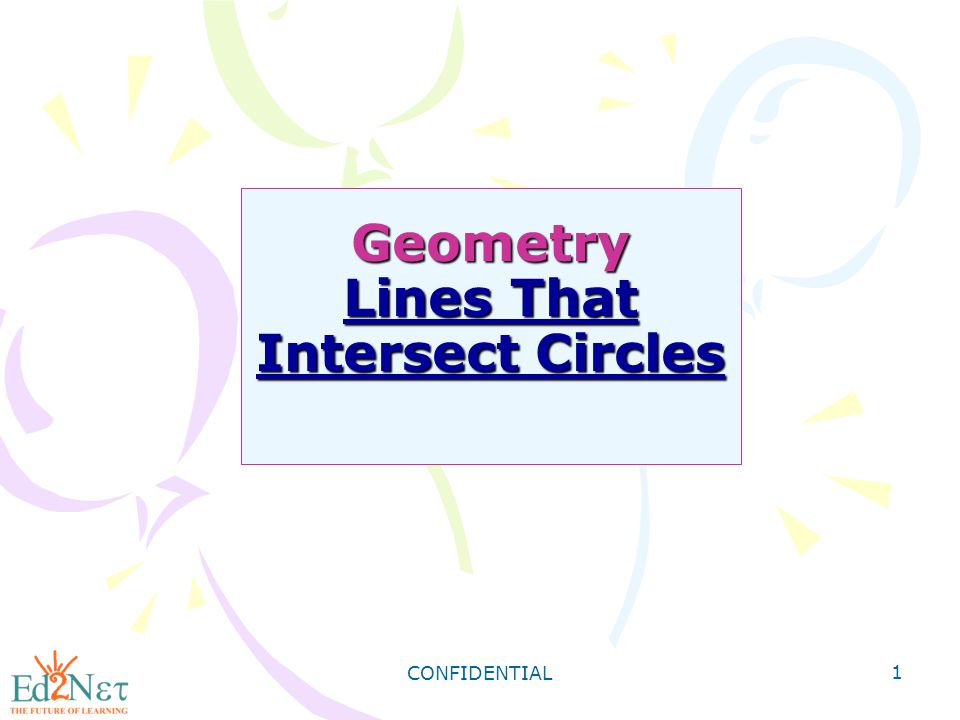 Geometry Lines That Intersect Circles