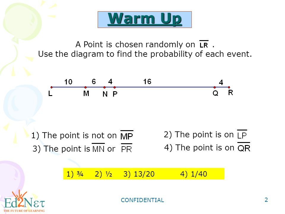 Warm Up A Point is chosen randomly on .