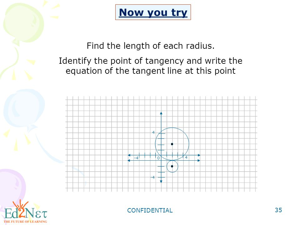 Find the length of each radius.