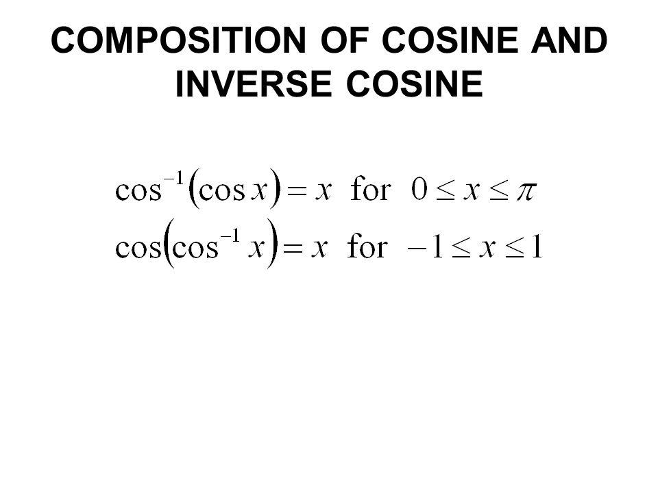COMPOSITION OF COSINE AND INVERSE COSINE