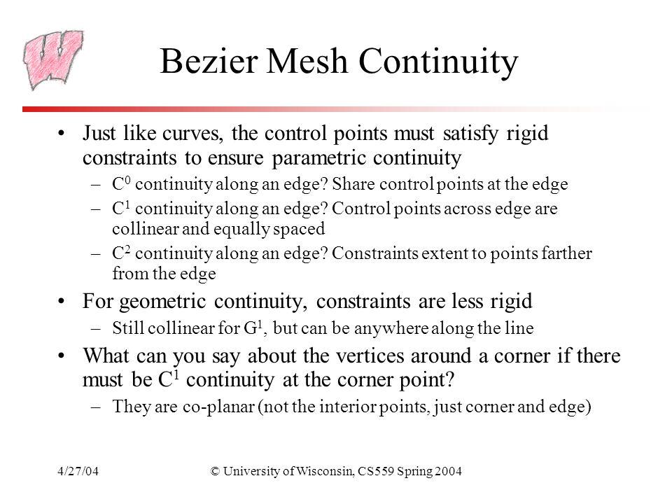 Bezier Mesh Continuity