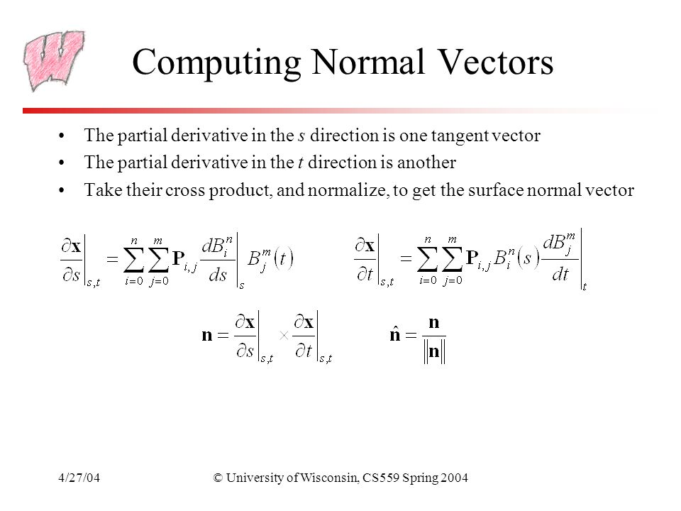 Computing Normal Vectors