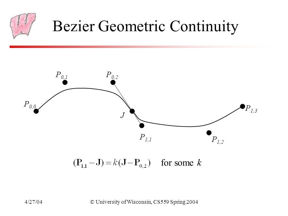 Bezier Geometric Continuity