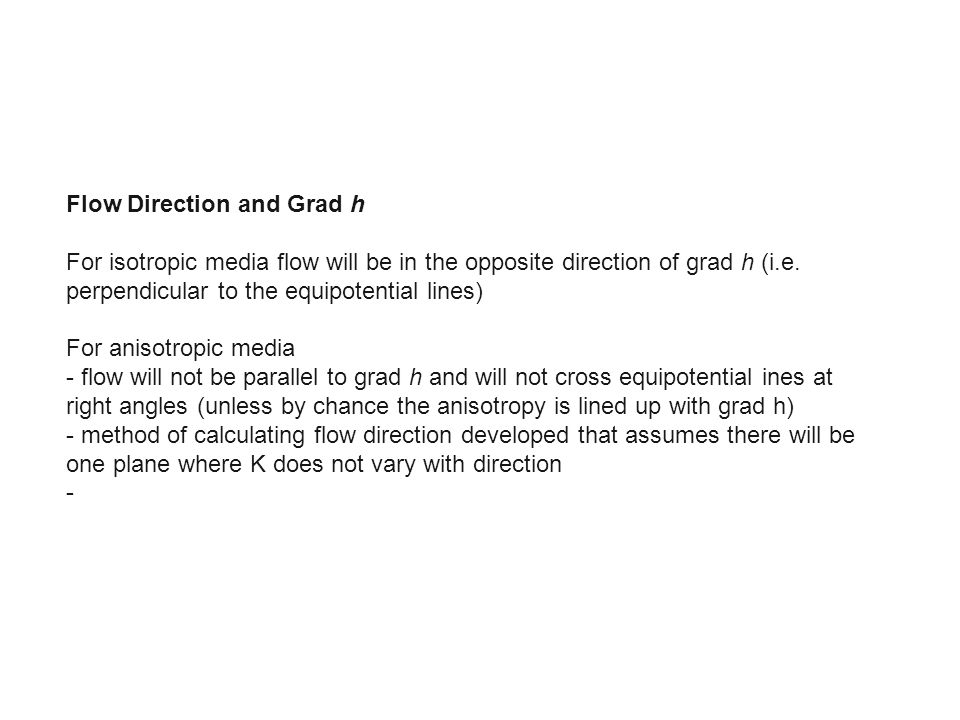 Flow Direction and Grad h