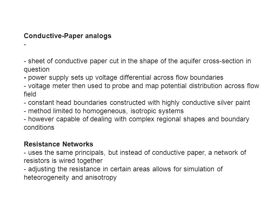 Conductive-Paper analogs