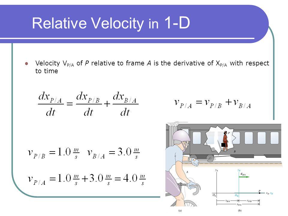 Relative Velocity in 1-D