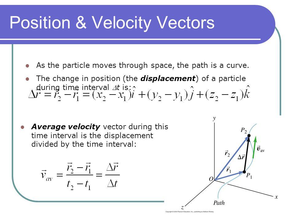 Position & Velocity Vectors