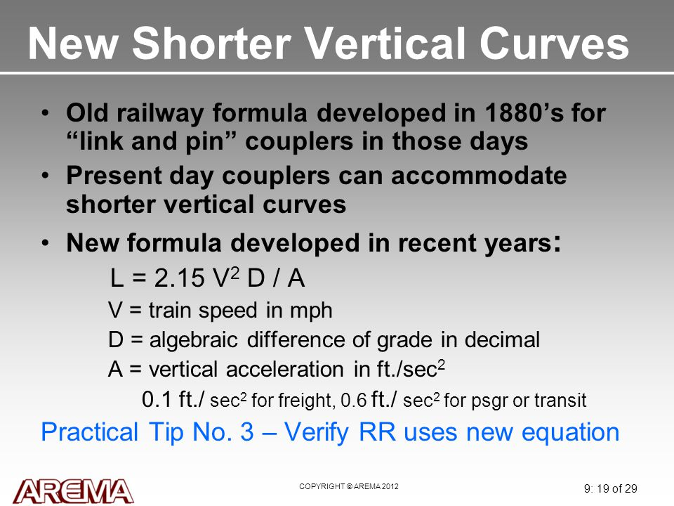 New Shorter Vertical Curves